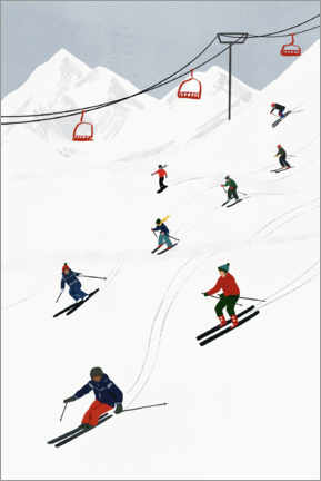 Canvas print  On the Ski Slope - Victoria Borges
