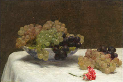 Wall sticker  Still life with grapes and a carnation - Henri Fantin-Latour