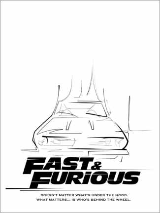 Canvas print  Doesn't matter what's under the hood (Fast & Furious)