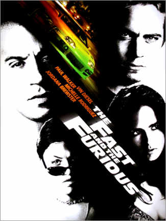 Premium poster  The fast and the furious