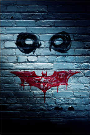 Premium poster  Batman The Dark Knight - Joker face