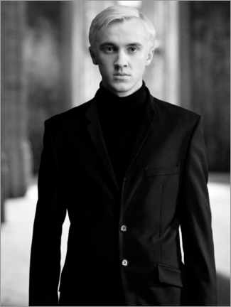 Wood print  The Half-Blood Prince - Draco Malfoy bw portrait