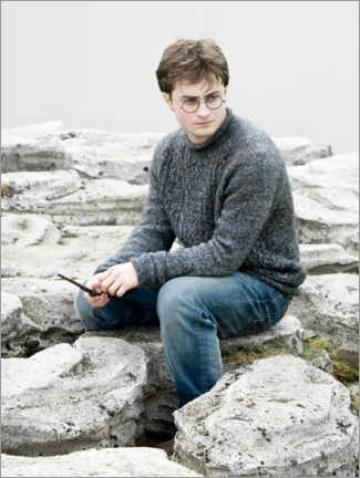 Premium poster The Deathly Hallows I - Harry with wand