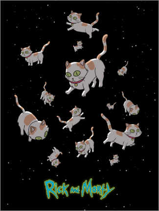 Canvas print  Rick and Morty - Space Cats