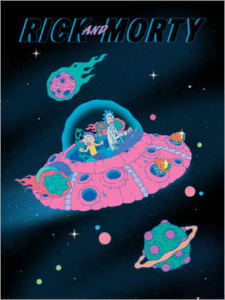 Premium poster  Rick and Morty - Space Ship