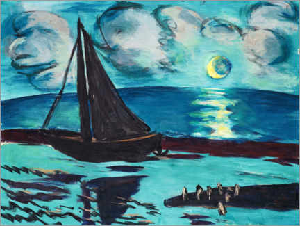 Gallery print  Moon night by the sea - Max Beckmann