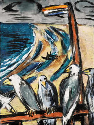 Acrylic print  Seagulls in the storm - Max Beckmann