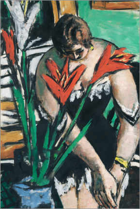 Gallery print  Woman getting dressed - Max Beckmann