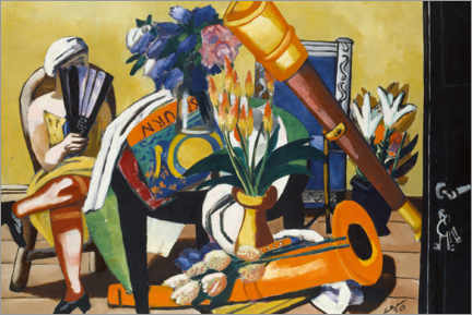 Acrylic print  Large still life with telescope - Max Beckmann