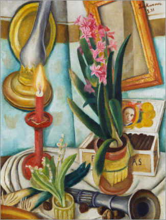Wall sticker  Still life with a burning candle - Max Beckmann