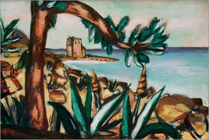 Wall sticker  Seascape with an old castle and agaves - Max Beckmann
