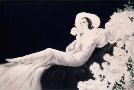 Wood print  Loves the bloom - Louis Icart