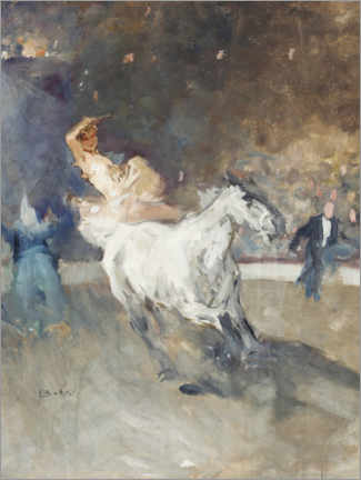 Premium poster  Circus rider in the ring - Brynolf Wennerberg