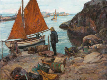 Premium poster  From a port - Thorolf Holmboe