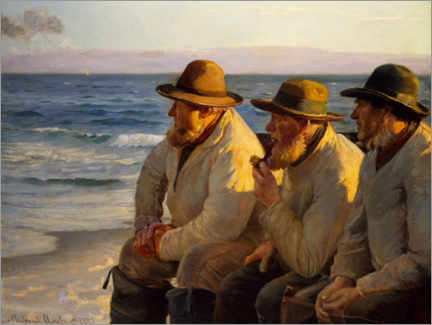 Foam board print  View on the sea - Michael Peter Ancher