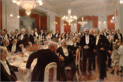 Canvas print  The anniversary dinner at Adelaide - Laurits Regner Tuxen