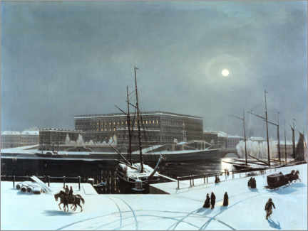 Premium poster  View of the Royal Palace in Stockholm. winter - Carl Stefan Bennet