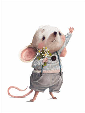 Foam board print  Greetings from the mouse - Kidz Collection