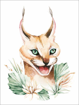 Canvas print  Hissing caracal - Kidz Collection