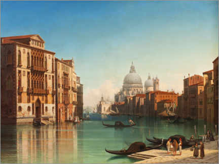 Premium poster View of the Grand Canal in Venice