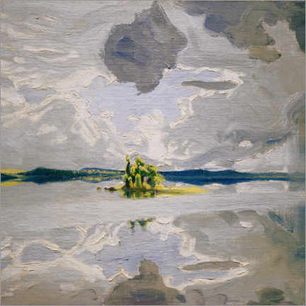 Aluminium print  Clouds over a lake - Akseli Gallen-Kallela
