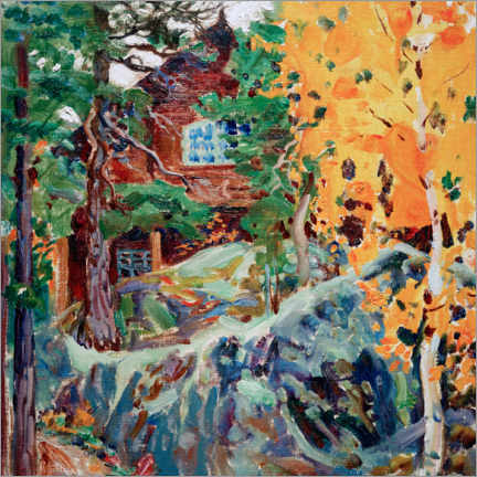 Gallery print  Kalela in autumn - Akseli Gallen-Kallela