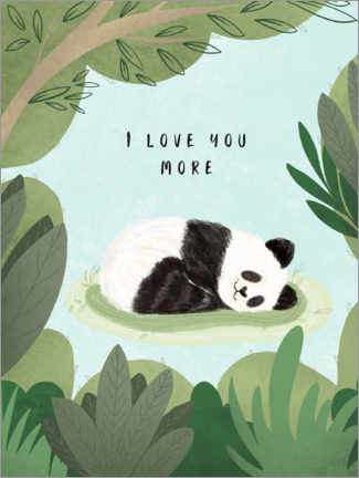 Wood print  I love you more - Nikita Jariwala