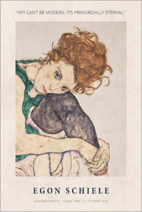Foam board print  Schiele - Primordially eternal - Museum Art Edition