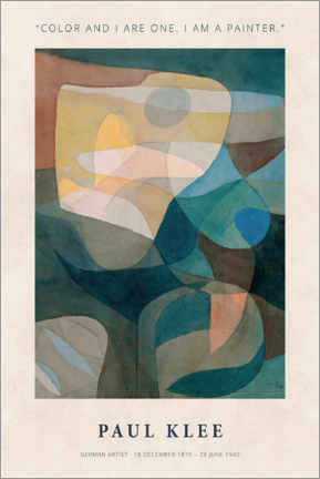 Canvas print  Paul Klee - Color and I - Museum Art Edition