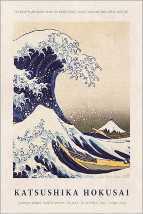 Premium poster  Katsushika Hokusai - Five more years - Museum Art Edition