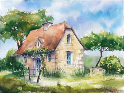 Premium poster Country house in France