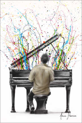 Canvas print  The Piano Solo - Ashvin Harrison