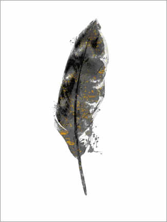 Premium poster Curved Feather