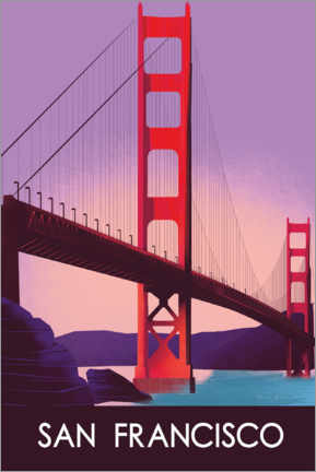 Canvas print  San Francisco I - Omar Escalante