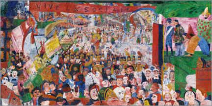 Canvas print  The entry of Christ into Brussels - James Ensor