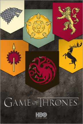Premium poster Game of Thrones - Houses emblems