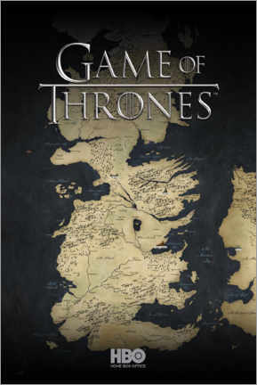 Premium poster  Game of Thrones - Map of Westeros