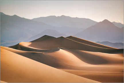 Acrylic print  Sand dunes in Death Valley - Mandfred Voss