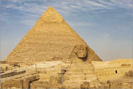 Premium poster  Great Sphinx of Giza in front of the Pyramid of Khafre - Emily Wilson