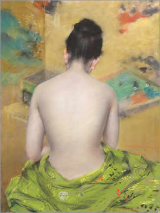 Premium poster  Study of Flesh Color and Gold - William Merritt Chase