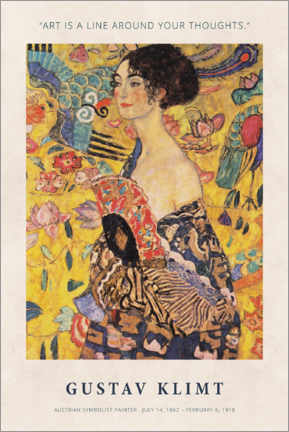 Premium poster Gustav Klimt - A line around your thoughts