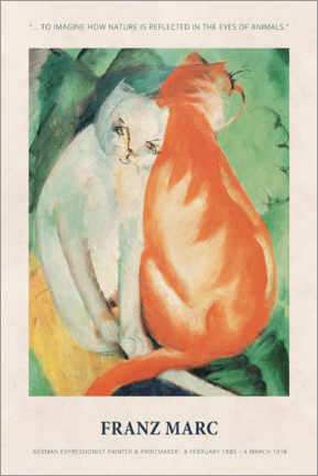 Premium poster  Franz Marc - In the eyes of animals - Museum Art Edition