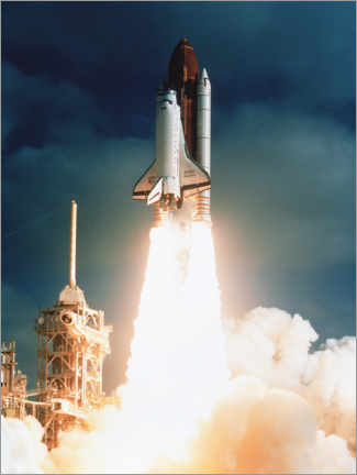 Premium poster  Launch of shuttle STS-31, carrying space telescope - NASA