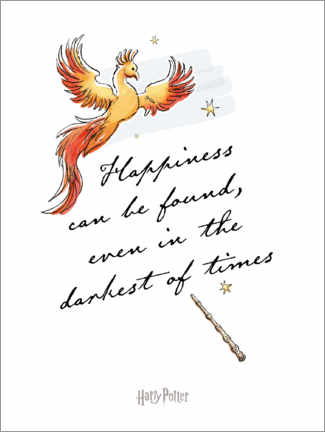 Premium poster Happiness can be found - Harry Potter Quote