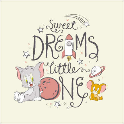 Premium poster Tom & Jerry - Sweet dreams little one