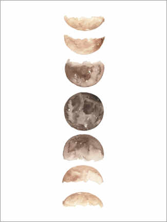 Premium poster Moon phases watercolor