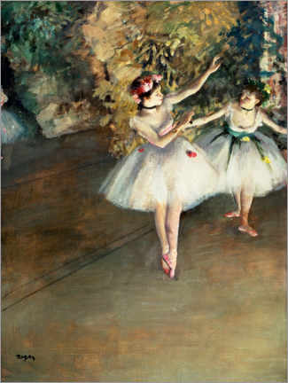 Canvas print  Two dancers on the stage - Edgar Degas