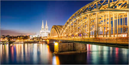 Acrylic print  Night in Cologne - Matteo Colombo