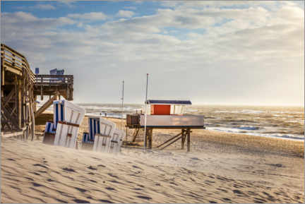 Premium poster Evening on the beach of Kampen on Sylt