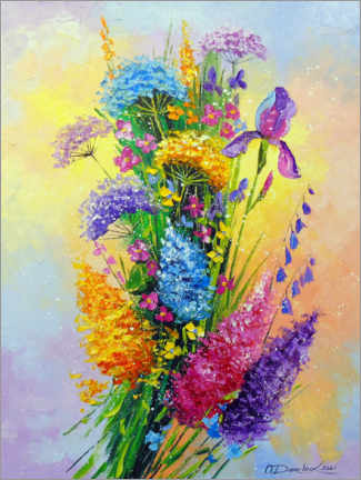 Premium poster Bouquet of meadow flowers